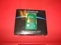 Sega Dreamcast Game System Green Visual Memory Unit For Controller