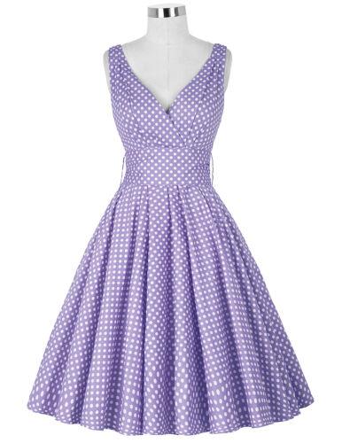 Tanzkleid Pin-Up Vintage 50er Kleid Polka Dots Partykleid Petticoat Rock´n Roll