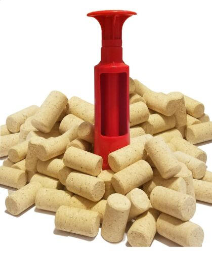 Choice of Plunger Corker with selectable quantity of All Natural Corks Wine Beer
