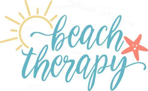 Beach Therapy Summer Fun Tropical Water Ocean Vinyl Decal Free Ship 1755