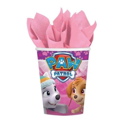 Paw Patrol Pink Girls Birthday Party Range Tableware Balloons /& Decorations {1 C}