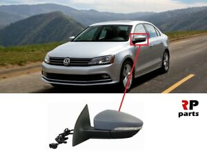 For Vw Jetta 11 17 Wing Mirror Electric Heated 6 Pin Primed Indicator Left Lhd Ebay