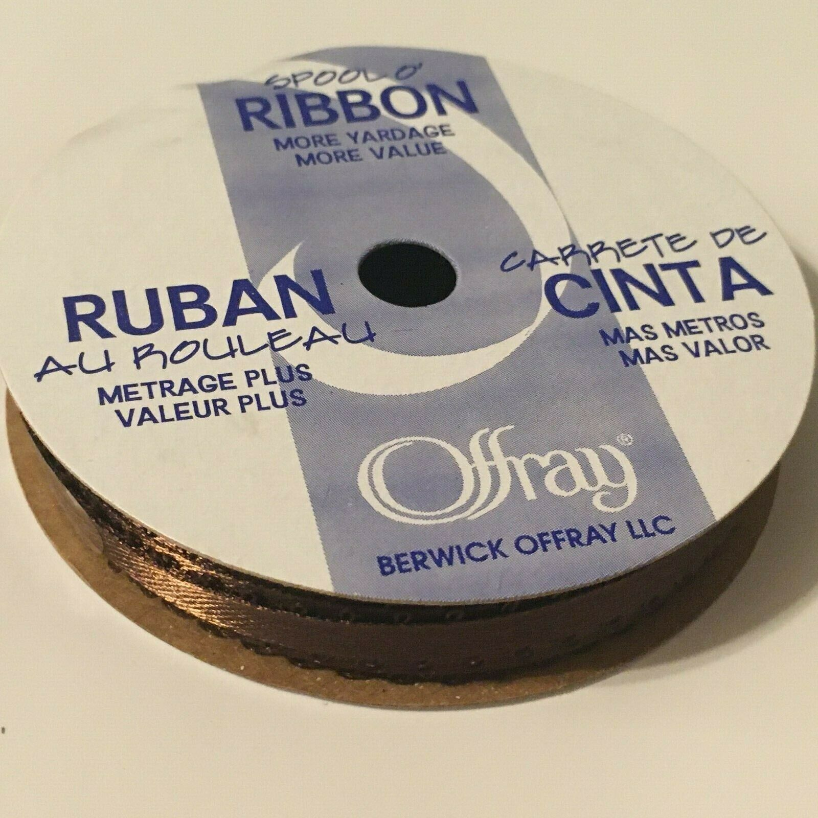 "Spool O Ribbon Berwick Offray 6 Yards Picot Edge Satin Width 3//16/"" Craft Supply"
