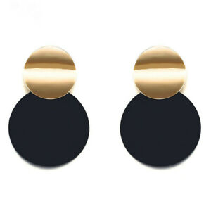 Fashion-Women-Acrylic-Round-Earrings-Stud-Dangle-Drop-Earrings-Jewelry-Gift