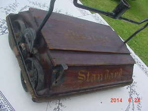 Antique Wooden Bissell Standard Carpet Sweeper Early 1900