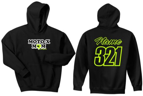 MOTO-X MOM HOODIE SWEAT SHIRT JUST RIDE MX MOTOCROSS PERSONALIZED