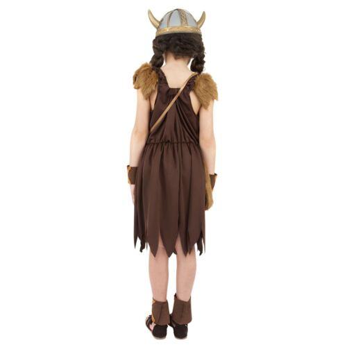 Girls Viking Childrens Costume Child Book Week Fancy Dress Outfit Saxon Warrior