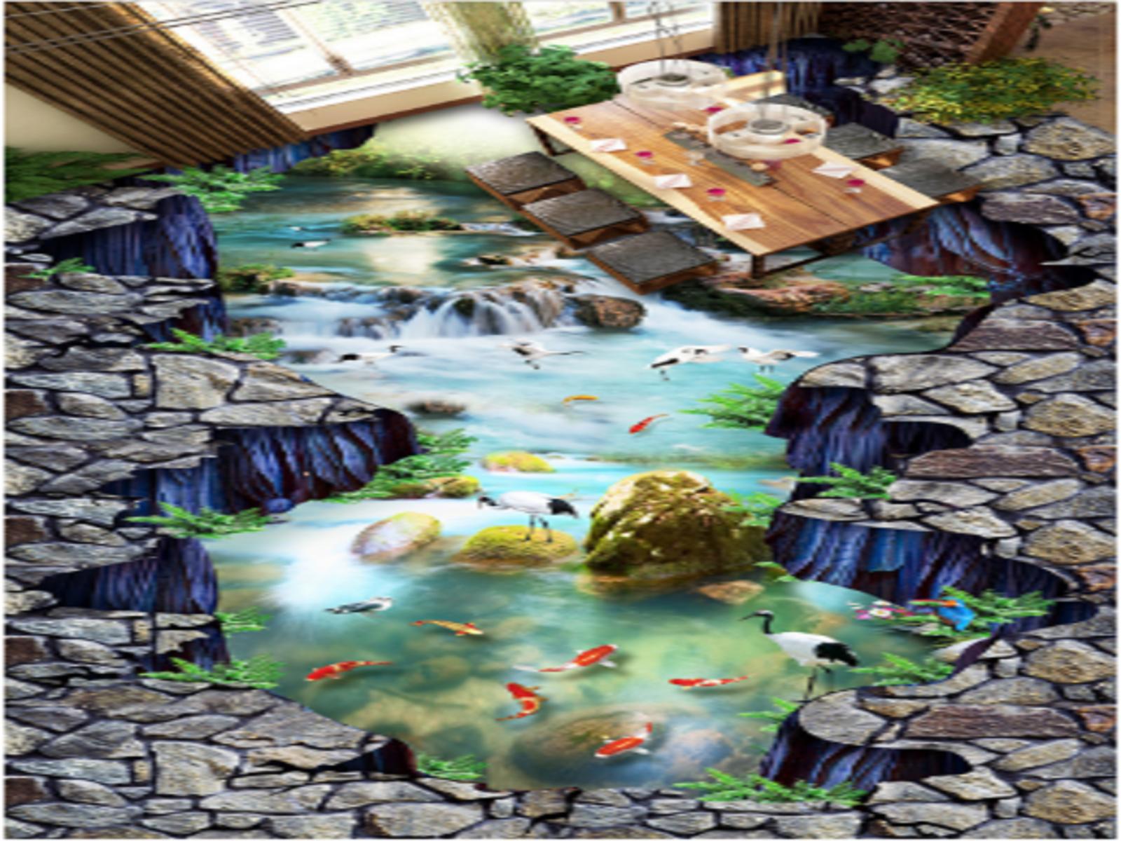 3D Weiß Crane Rock 5 Floor WallPaper Murals Wall Print 5D AJ WALLPAPER UK Lemon
