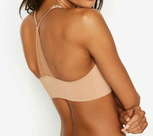 Victorias Secret Seamless Naked/'s Smooth Raw Laser-cut Racerback Bralette Bra