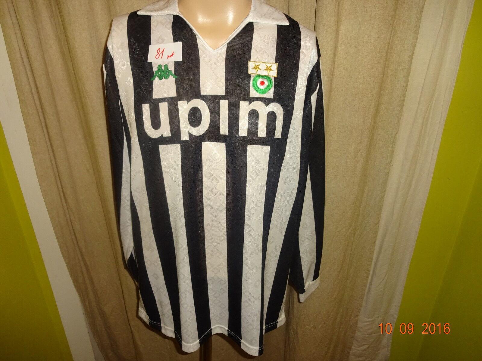 Juventus Turin Original Kappa Langarm Heim Trikot 1989 90  upim  + Nr.5 Gr.XL