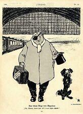 Arpath Emil Schmidhammer Algeciras- Berlin Das blaue Auge...Histor.Karikatur1906