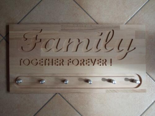 Flurgarderobe Wandgarderobe Garderobe Family 60x30cm CNC gefräst