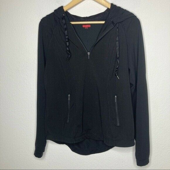 Spanx Silhouette Slimming Jacket Black Pullover