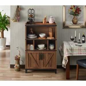 Rustic Buffet Sideboard Hutch Kitchen Storage Cabinet ...