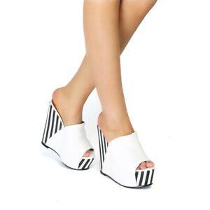 Women-Wedge-High-Heel-Platform-Sandals-Peep-Toe-Slippers-Casual-Clubwear-Shoes