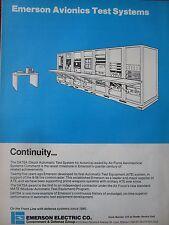 9/1982 PUB EMERSON DATSA DEPOT AUTOMATIC TEST SYSTEM AVIONICS AIR FORCE B-58 AD