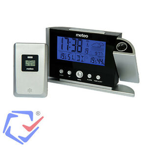 funk wetterstation mit au ensensor wetterprognose hygrometer thermometer lcd ebay. Black Bedroom Furniture Sets. Home Design Ideas