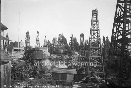 """Photo 1894 Los Angeles California /""""View of Oil Fields/"""""""