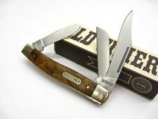 SCHRADE Old Timer Desert Iron Wood SENIOR 3 Blade Folding Pocket Knife New! 8OTW
