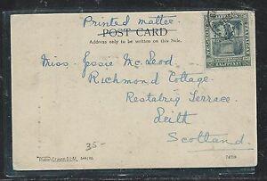 BARBADOS (P0806B) 1906 NELSON 1/2 ON PPC TO SCOTLAND