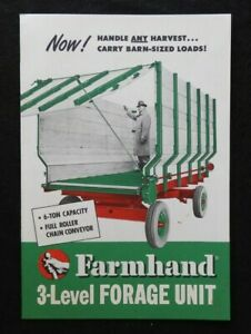 "1951 Superior Separator Company FARMHAND ""3-Level Forage Unit"" Sales Brochure NM"
