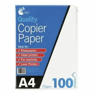100-Sheets-A4-75gsm-Paper-Bright-White-Printer-Copier-Office-Home-Copy-Printing