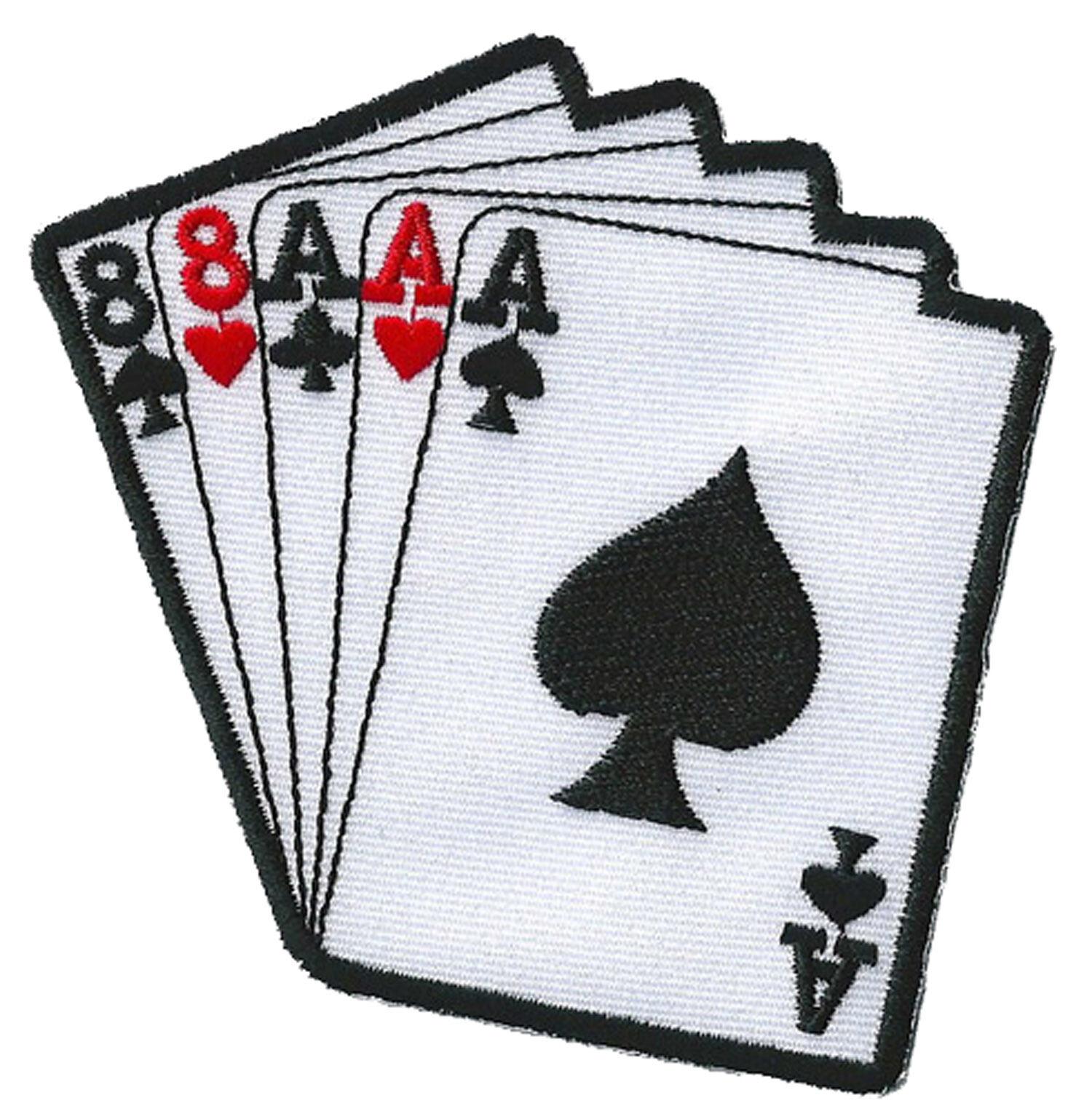 Ecusson patche thermocollant Poker Full patch casino badge brodé brodé brodé 1f8c27