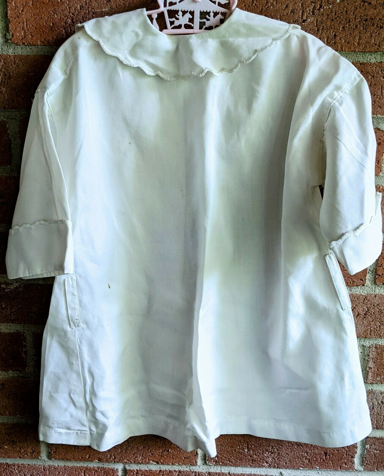 Antique Victorian Shirt White Blouse Embroidered … - image 4