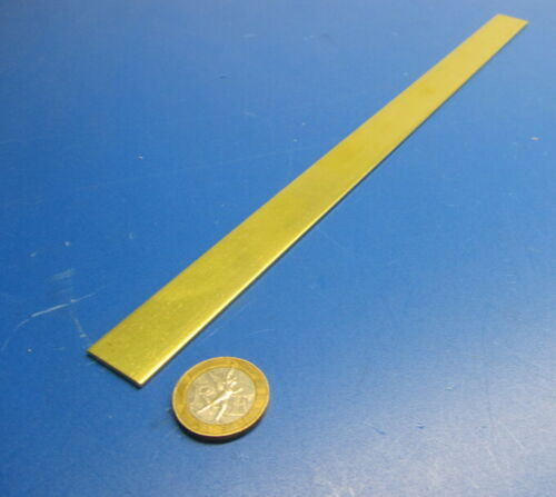 "260 Brass Flat Bar .064/"" 3 Units Thick x 3//4/"" Wide x 1 Foot Length +//- 0.002/"""