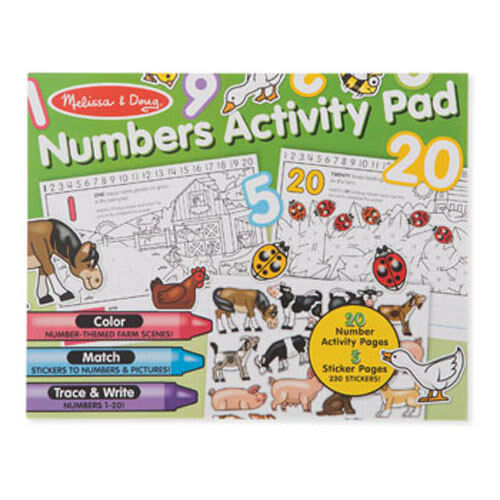 Melissa & Doug - Numbers Activity Pad NEW Kids Play