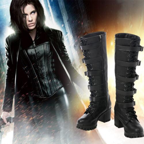 Blood Wars Vampire Warrior Selene Cosplay Shoes Boots Accessories Underworld