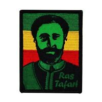 African Unity Leader ras Tafari Iron-on Patch Haile Selassie Tribute Applique