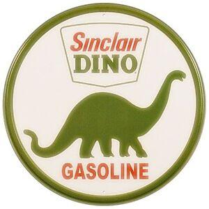 Sinclair-Dino-Gasolina-Letrero-de-Metal-300mm-Diametro-de