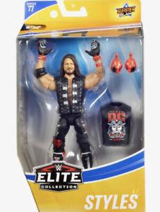 EN STOCK WWE AJ styles OC Club Gants MATTEL ELITE SERIES 77 Wrestling Figure