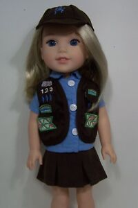 """Girl Scout Uniform For 14.5/"""" Wellie Wishers Doll Clothes Buy 3 Ships Free"""