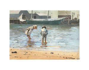 Boys Wading, 1873 by Winslow Homer Art Print Children ...