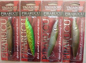 Lot-4-Leurres-peche-VAGABOND-pirarucu-lure-caranassier-rapala-Ultimate-fishing