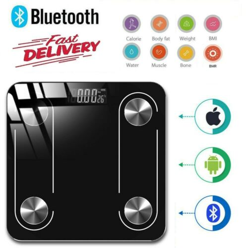 Bluetooth Body Fat Scale Smart BMI LED Digital Bathroom Weight Scale iOS Android