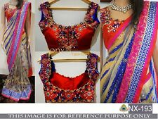 Bollywood Designer Party Wear Multi-Color With Designer Blouse  Saree