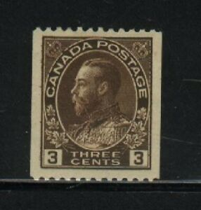 """Canada Unitrade 134 (z3) HINGED (Coils) """" KING GEORGE V """"ADMIRAL""""  1921."""