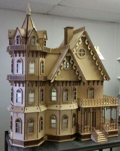 Image Is Loading Leon Gothic Victorian Mansion Dollhouse 1 12 New