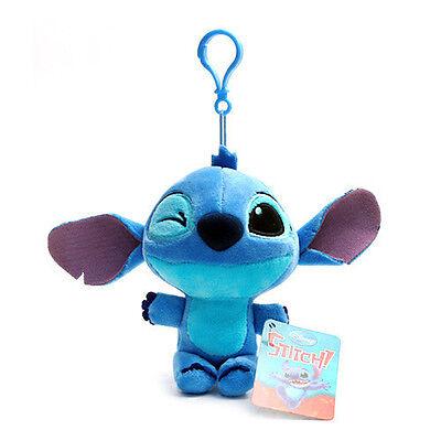 BNWT 5.5inch Cute Wink Stitch Plush Doll Bag Charm Disney Accessory Lilo&Stitch