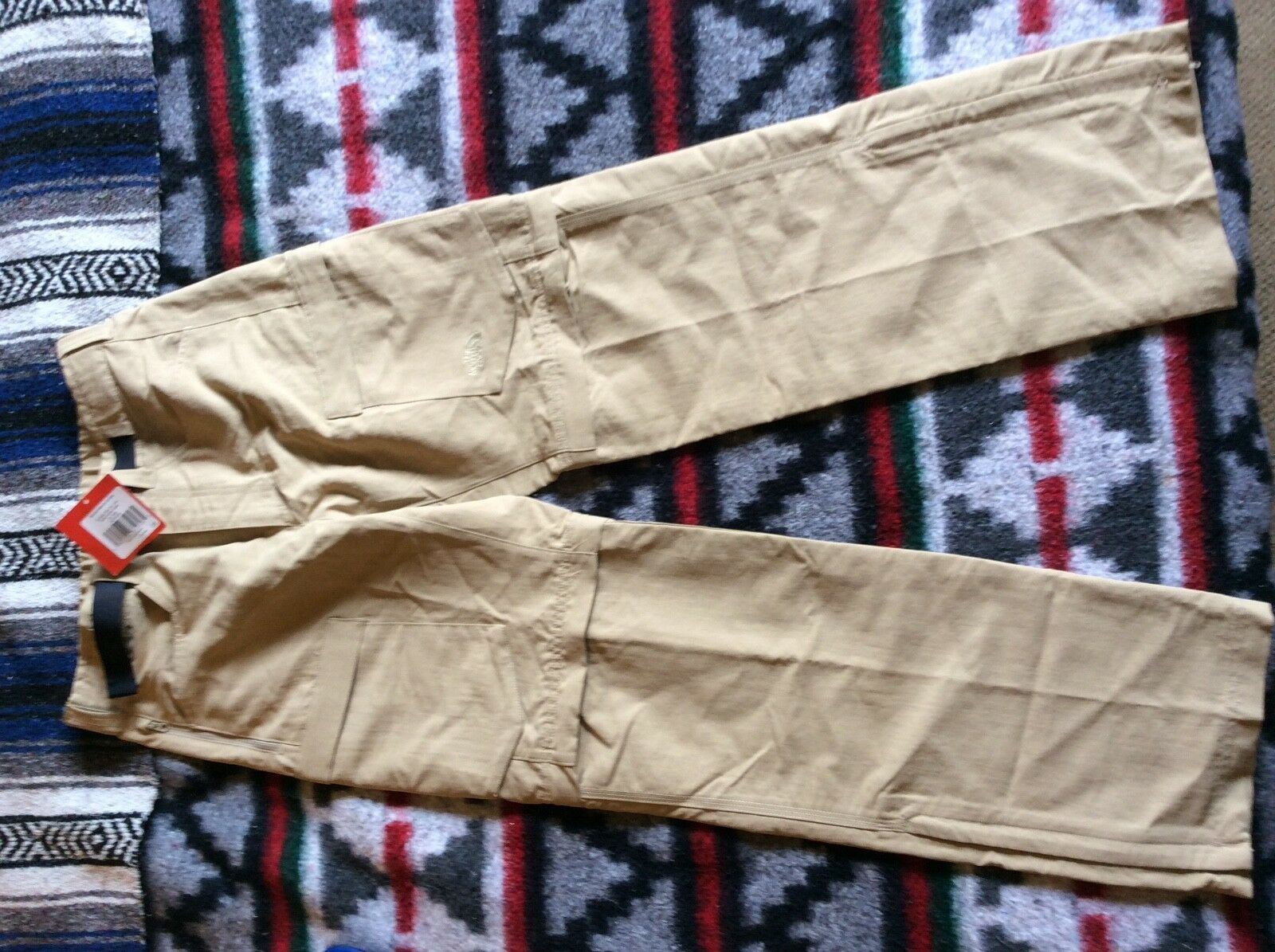 The North Face Men's Nylon Hiking Pants Beige Farbe Größe 32 x 31
