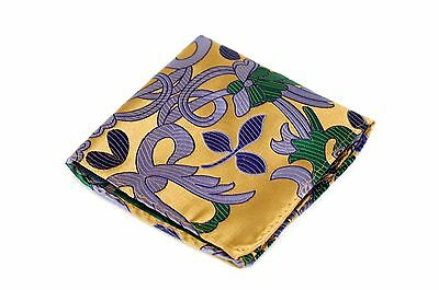 Lord R Colton Masterworks Pocket Square $75 Retail Jacaranda Gray Silk