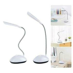 Battery Powered Led Desk Mini Lamp Flexible Rotating Reading Table