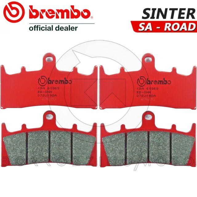 Brembo SA Sintered Road Front Brake Pads Pair Kawasaki Z1000 2010/>