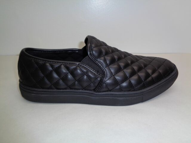 0ef5a896553 Steve Madden Size 8 M ELEMENT Black Slip On Loafers Sneakers New Mens Shoes