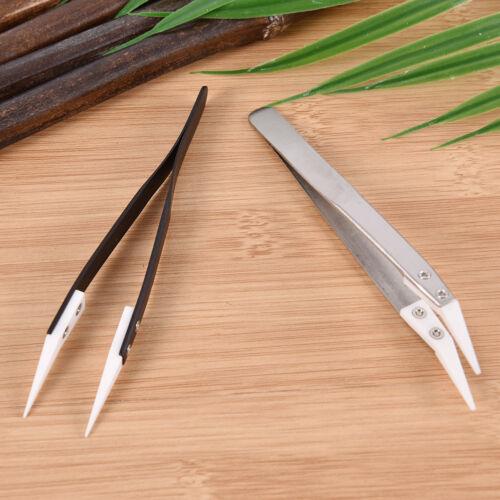 Pincettes en acier inoxydable à pointe fine pointue résistant à la chaleur