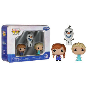 Disney-Fozen-Pocket-POP-3-Pack-Vinyl-Figures-NEW-Toys-Funko-Elsa-Anna-Olaf