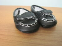 American Girl Black Loafer Shoes-retired-great For Custom Boy